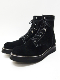"Lace Up Suede Logger Boots""MASTER PIECE""-ALL BLACK-"