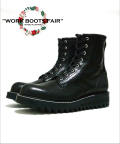 "【X'masFair対象商品12月25日迄】★☆2月下旬お届け予定☆★Lace Up Logger Boots""MASTER PIECE""#7124(Shark Sole)/BLACK"