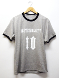Numbering Ringer Tee-GRAY-
