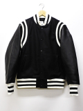Authentic Award Jacket-WHITExBLACK-