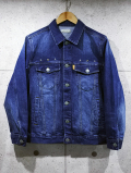 Western 3rd Denim Jacket-DARK INDIGO-