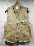 Stripe Work Vest-BEIGE-