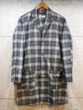 Long Check Shirts Jacket-GLEN CHECK GRAY-