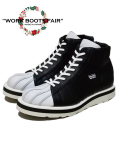 "【X'masFair対象商品12月25日迄】★☆2月下旬お届け予定☆★Leather Sneaker Boots""SHELL TOE-HI""-WHITExBLACK-"