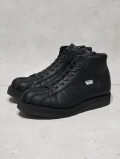 "Leather Sneaker Boots""SHELL TOE-HI""-ALL BLACK-"