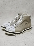 "Leather Sneaker Boots""SHELL TOE-HI""-GARY BEIGE-"