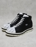 "Leather Sneaker Boots""SHELL TOE-HI""-BLACKxWHITE-"