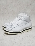 "Leather Sneaker Boots""SHELL TOE-HI""-WHITE GRAY-"