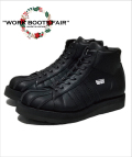 "【X'masFair対象商品12月25日迄】★☆2月下旬お届け予定☆★Leather Sneaker Boots""SHELL TOE-HI""-ALL BLACK-"
