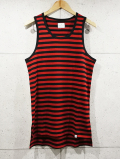 Waffle Border Tank Top-RED-