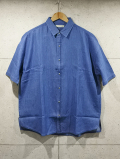 Over Work Shirts-L,INDIGO-