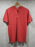 【先行予約7月入荷商品】 Henley neck Pigment Tee-FADE RED-