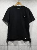 Side Lace S/S Tee-BLACK-