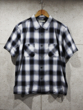【先行予約7月入荷商品】 Ombre Check S/S Shirts-BLACK-