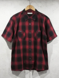 Ombre Check S/S Shirts-RED-