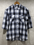 Ombre Check Resort Shirts-BLACK-