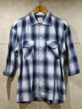 【先行予約8月入荷商品】Ombre Check Resort Shirts-BLUE-