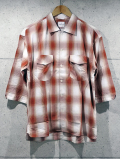 【先行予約8月入荷商品】Ombre Check Resort Shirts-RED-