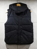 Detachable Hood Vest-BLACK-