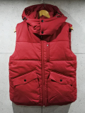Detachable Hood Vest-RED-