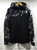 Marble Effect  Windbreaker-BLACK-