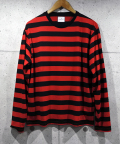 Border L/S Big Tee-RED-