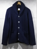 Shawl Collar Knit Cardigan-NAVY-