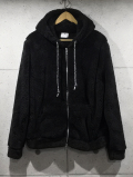Micro Sheep Boa Z/U Parka-BLACK-