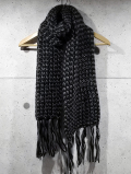 Crochet Muffler-MIX GRAY-