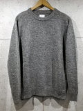 Crew Neck Knit Sweater-GRAY-