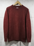 Crew Neck Knit Sweater-WINE-