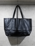 Cow Leather Tote Bag-BLACK-