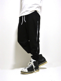 【先行予約4月入荷商品】Cutoff Line Sweat Pants-BLACK-
