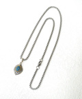 Drop Feather Turquoise Necklace/ドロップフェザーターコイズネックレス