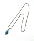 Round Turquoise Necklace/ラウンドターコイズネックレス