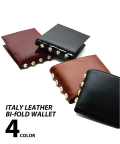 Italy Leather Bi-Fold Wallet/イタリーレザーバイフォルドウォレット