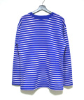 Color Border L/S Tee/カラーボーダーロングスリーブティー-BLUE-