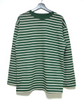 Color Border L/S Tee/カラーボーダーロングスリーブティー-GREEN-