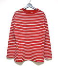 Color Border L/S Tee/カラーボーダーロングスリーブティー-RED-