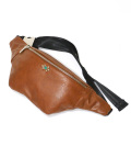 Leatherette Body Bag/レザレッテボディバッグ -BROWN-