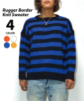 Rugger Border Knit Sweater