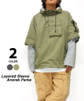 【5月下旬入荷予定商品】Layered Sleeve Anorak Parka