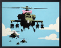 【Banksy】Helicopters/バンクシー アートフレーム