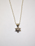 【メール便可】Hexagram Corona Amulet Necklace-SILVER-