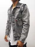 2nd Denim G-Jacket-FADE BLACK-