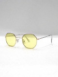 Octagon Frame Toy Sunglasses-YELLOW-