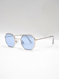 Octagon Frame Toy Sunglasses-BLUE-