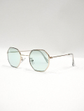 Octagon Frame Toy Sunglasses-GREEN-
