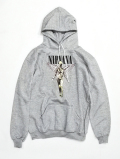"NIRVANA ""IN UTERO"" Sweat Hoodie-GRAY-"