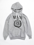 NIRVANA Circle Sweat Hoodie-GRAY-